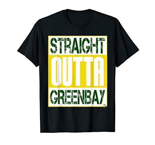 Green Bay shirt Stadtname - straight outta Greenbay T-Shirt - Wisconsin Gelben T-shirt