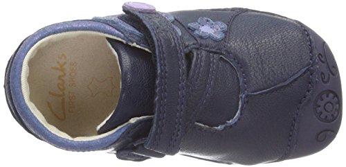 Clarks Kids Dizi Dots, Chaussures de Naissance Bébé Fille Bleu (Navy)