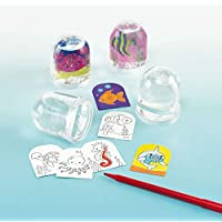 Sealife Colour-In Snow Globes (Box of 4)