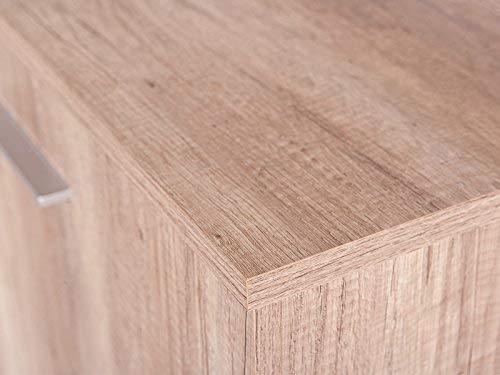 Links 22500005 Anrichte Kommode Diele Wohnzimmer 4-türig Schublade Wildeiche weiß hochglanz NEU - 5