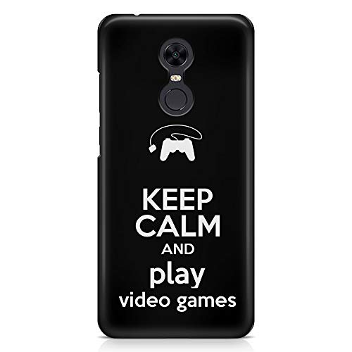 ItalianCaseDesign Cover Custodia Protettiva Case Nerd Gamer Keep Calm And Play Videogames Joypad Ps4 Xbox PC per Xiaomi Mi Mix 2 - Mi Max 2 - Redmi 5 - Redmi 5 Plus (Seleziona Il Modello)