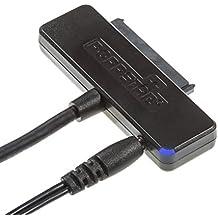 Poppstar USB 3.1 Gen 1 Tipo A adaptador de disco duro para SSD, HDD, 2,5 y 3,5 pulgadas, hasta 5 Gb/s, soporte UASP, Chip ASMedia ASM1153E, longitud de cable 1m