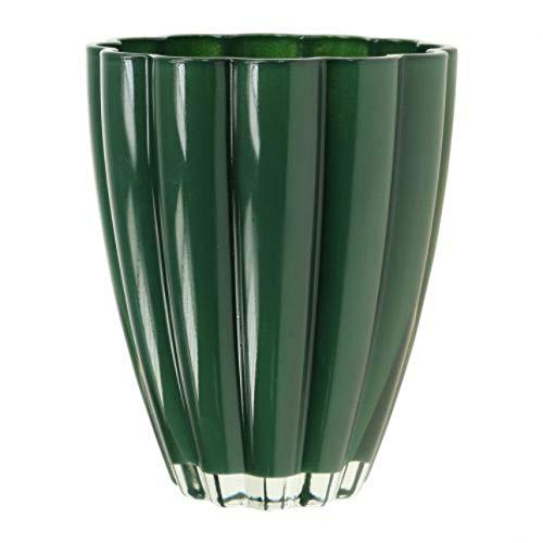 Unbekannt Vase Blumenvase Glasvase grün 17 cm hoch - hochwertig • auch als Übertopf für Orchideen verwendbar, Vasen Blumenvasen