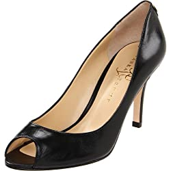 Ivanka Trump Women s Cleo Peep-Toe Pump Black 10 B(M) US