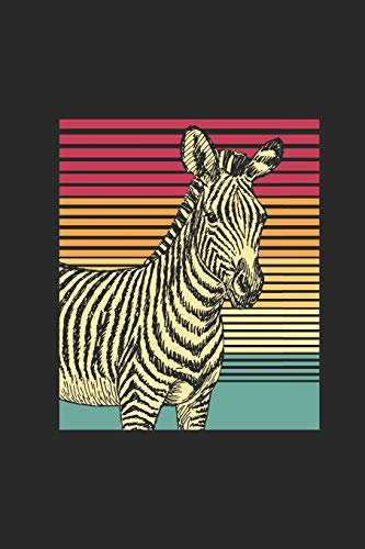 Zebra Retro: Blank Lined Notebook / Journal (6 X 9) - Gift Idea For Animal Lover