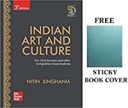 Indian Art and Culture with Free Sticky Book Cover by Nitin Singhania & McGraw Hill Publication (3rd Editi