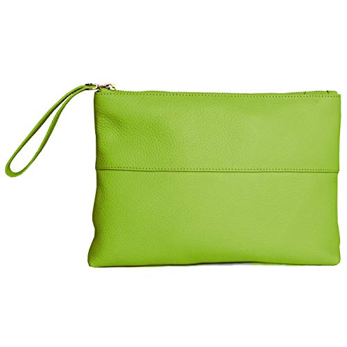 Eastern Counties Leather - Pochette Courtney en cuir - Femme (Taille unique) (Vert perroquet)