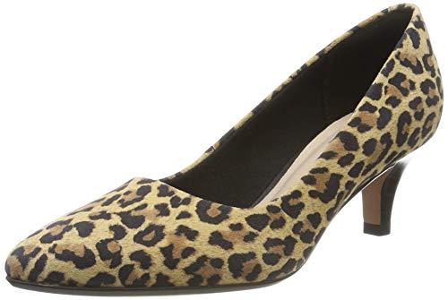 Clarks Damen Linvale Jerica Pumps, Mehrfarbig Leopard Print, 39 EU