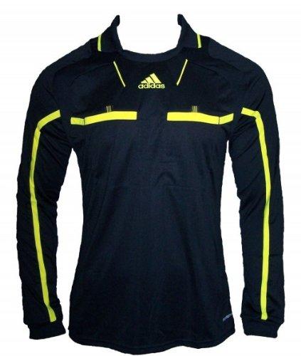 Adidas Schiedsrichter Trikot REFEREE JERSEY L/S Gr.L schwarz-gelb (P49176)