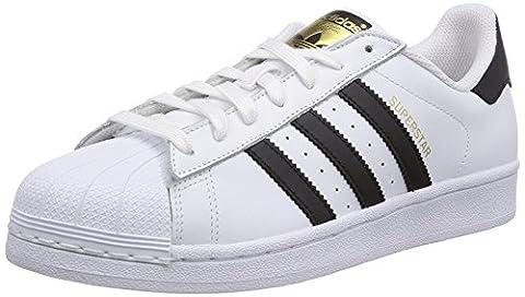 ADIDAS Originals Superstar C77124 Weiß Unisex schwarze Lederschuhe 44