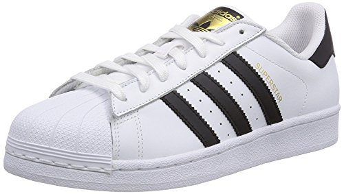 Adidas-Originals-SUPERSTAR-C77124-unisex-blanco-zapatos-de-cuero-negro-44