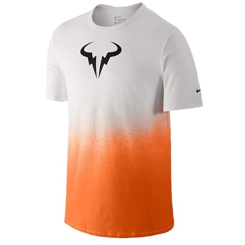 Nike Rafa Tee Men white/blue 658163 Gr. X-Large, weiß / orange