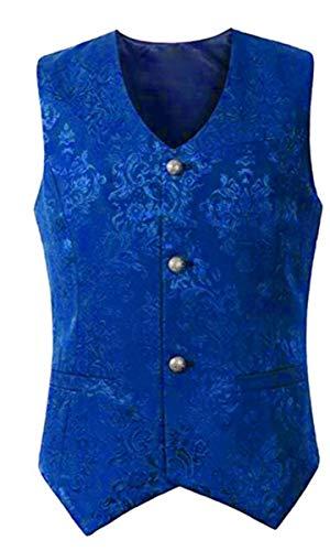 LCXYYY Herren Gothic Mittelalter Weste Vintage Frack Jacke Retro Gothic Victorian Steampunk Coat Uniform Kostüm Vampir Cosplay Verkleidung