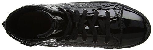 Geox J Kalispera F, Baskets Hautes Mixte Adulte Noir (Black)