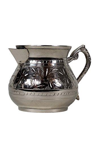 Preisvergleich Produktbild Orientalische Milchkanne Silberfarbig Asrar