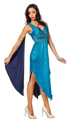 riechische Göttin Kostüm Damen Venus Damen-Kostüm blau Größe 44 ()