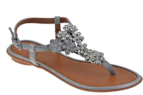 Scarpe Donna 60829 Strass Infradito Total Lookers.