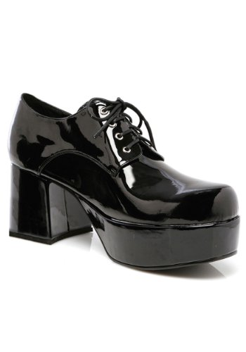 Mens Black Pimp Shoes X-Large (Halloween-kostüme Männer Pimp)