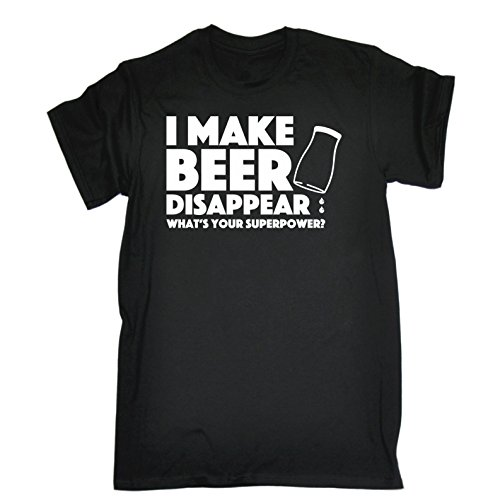 123t Men's I Make Beer Disappear Whats Your Superpower T-Shirt