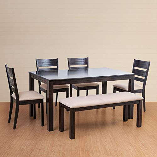Home Centre Montoya 6 Seater Dining Table Set with Chair and Bench