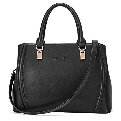 Schwarze Tote Handtasche (BOSTANTEN Damen Leder Handtasche Schultertasche Umhängetasche Elegante Henkeltasche Tote Bag Schwarz)