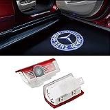DEFOV Auto Schatten Licht 3D Logo Tür LED Geisterschatten Licht Logo Projektor Courtesy Lichter Auto Hintergrundbeleuchtung Auto Styling Willkommen Lampe (Benz E Blue logo)