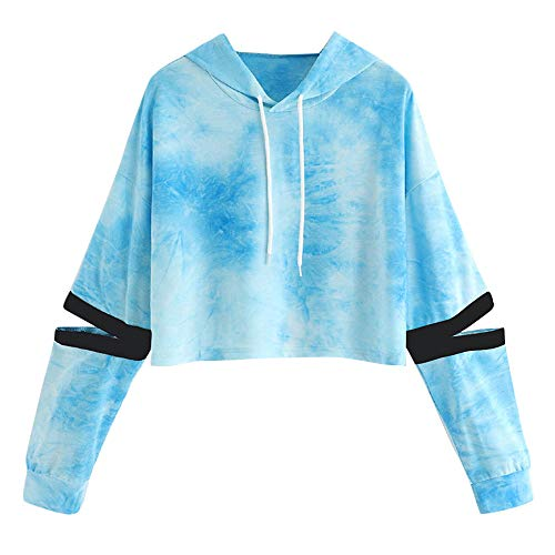 Jaminy Damen Kapuzenpullover Hooded Sweatshirt Hoodie Pullover Damen Herbst Mode Hooded Sweatshirt S-XL (Blau -2, S)
