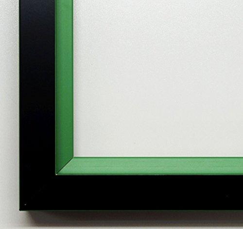 Cornice portafoto Herzogenaurach NERO, gola Verde 3,0, Cornice vuota senza vetro con ganci, nero, DIN A3 (29,7 x 42 cm)