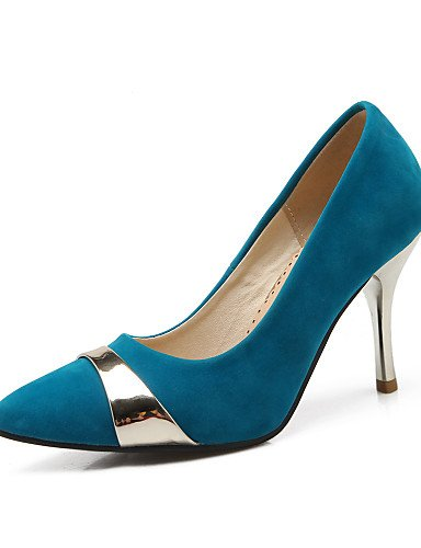 WSS 2016 Chaussures Femme-Bureau & Travail / Décontracté-Noir / Bleu / Rouge-Talon Cône-Talons / Bout Pointu-Chaussures à Talons-Laine synthétique red-us10.5 / eu42 / uk8.5 / cn43
