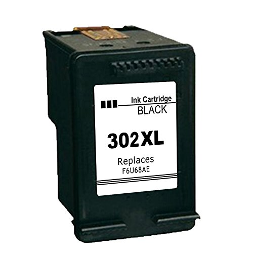 Ink_Seller - Cartucho de tinta negra compatible regenerado para HP 302 XL