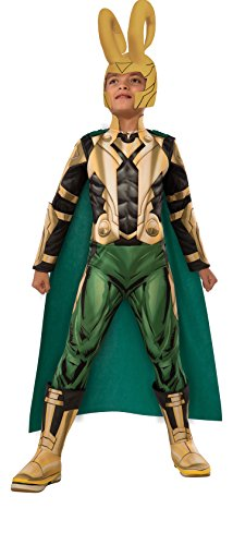 Avengers Assemble Loki Deluxe Costume, Child's Medium by Rubie's Costume ()