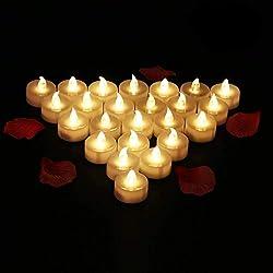 24 Velas LED Sin Fuego dia de los enamorados