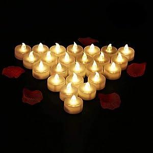 24 Velas LED Sin Fuego
