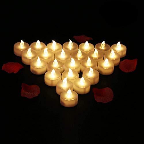 24 Velas LED Sin Fuego - Glamouric Velas Electrónicas con Baterías Incorporadas...