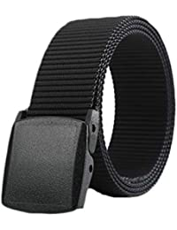 d8ded45ff652 Skytouch Nylon Belt Canvas Breathable Military Tactical Men Waist Belt With  Plastic Buckle
