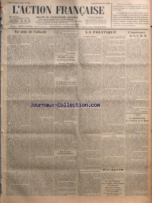ACTION FRANCAISE (L') [No 254] du 10/09/1928 -...