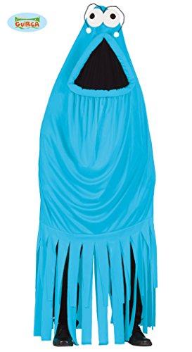 Kostüm Halloween M&m Blau (Monsterkostüm Kostüm Monster Gespenst Blau Pink Karneval Halloween Horror Gr M/L, Größe:Einheitsgröße,)