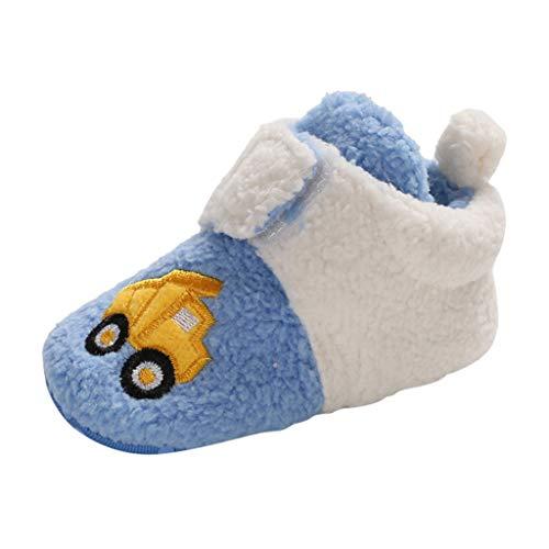 Neugeborene Warme Schuhe Der Karikatur, Baby-MäDchen-Jungenwinter-Nette Schuh-Erste Wanderer-Weiche Sohle Rutschfeste Schuh-Turnschuhe (Weiß, Hellblau, Himmel-Blau, Rosa) 19-22 Eu -