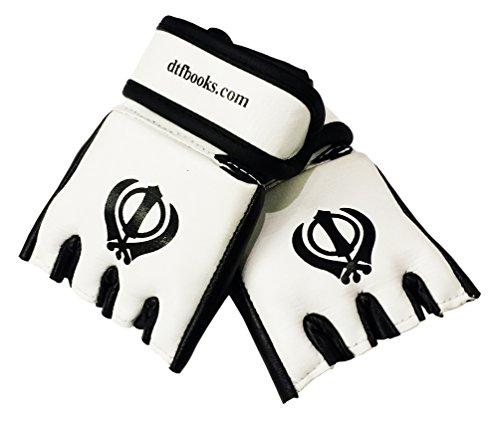 Sikh Khanda Miniatur MMA Handschuhe Rückspiegel Abbildung 3
