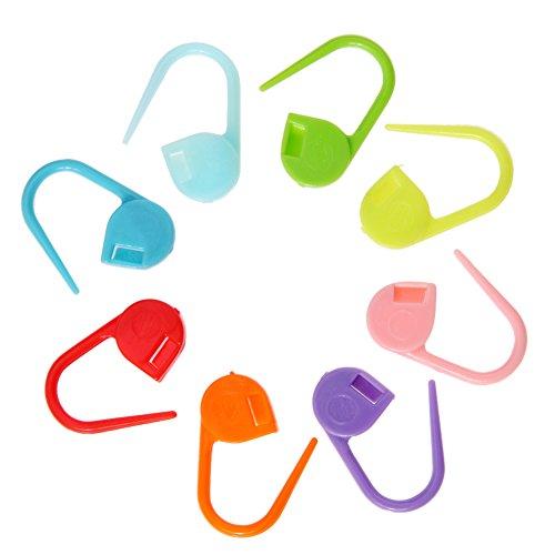 Tsukama Locking Stitch Marker Lock Pins Plastic Ring Markers for Knitting -
