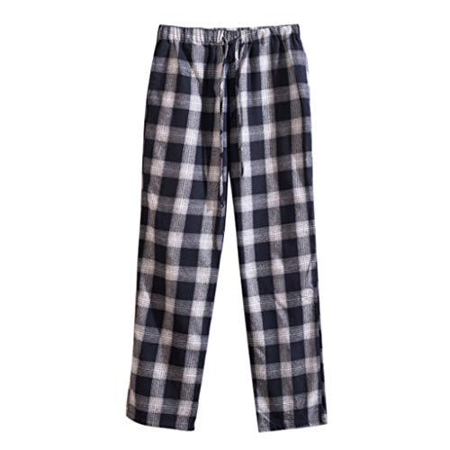 MOTOCO Männer Und Frauen Sommer Plaid Shorts Plus Größe Falten 3/4 Hosen Kordelzug Beiläufige Halbe Pluderhosen Hosen(4XL,Schwarz)