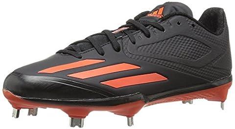 adidas Performance Men's Adizero Afterburner 3 Baseball Shoe, Black/Collegiate Orange/Collegiate Orange, 8 M