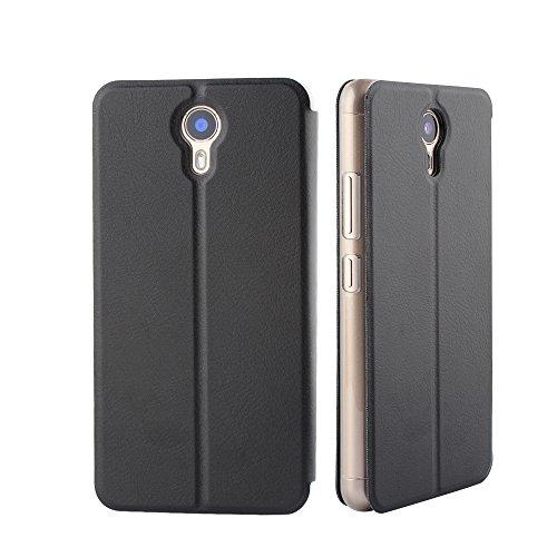 Frlife Ulefone Power 2 Hülle Schwarz, Bookstyle Handyhülle Premium PU-Leder klapptasche Case Brieftasche Etui Schutz Hülle für Ulefone Power 2