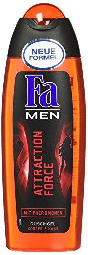 Preisvergleich Produktbild Fa Men Attraction Force, Duschgel Körper & Haar mit Pheromonen, 250 ml