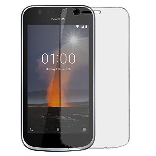 Conie 9H2458 9H Panzerfolie Kompatibel mit Nokia 1, Panzerglas Glasfolie 9H Anti Öl Anti Fingerprint Schutzfolie für Nokia 1 Folie HD Clear