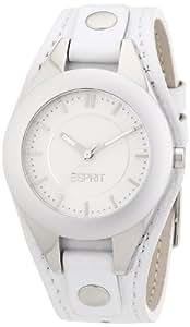 Esprit - ES106042002 - Montre Femme - Quartz Analogique - Bracelet Cuir Blanc