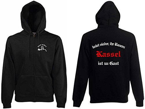 world-of-shirt Herren Kapuzenjacke Kassel Ultras kniet nieder