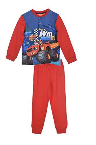 Blaze e le mega macchine - pigiama 100% cotone felpato - maglia a maniche lunghe e pantaloni - novità prodotto ufficiale 5822hp [rosso - 3 anni - 98 cm]