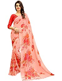 Navya Women's Georgette Saree With Blouse Piece (Nav313_Multi-Coloured)