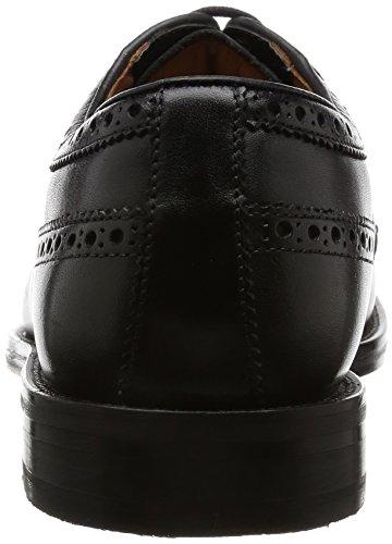 Clarks Coling Limit, Derby Uomo Nero (Black Leather)